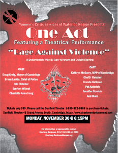 WCSWR ONE ACT POSTER